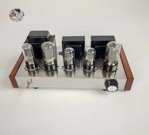 Image 3 - 2021 Nobsound Family 2.0 wzmacniacze lampowe DIY Kit 5U4C + 6H8C + 6P3P obudowa ze stali nierdzewnej moc wyjściowa 2*8W AC110V/220V