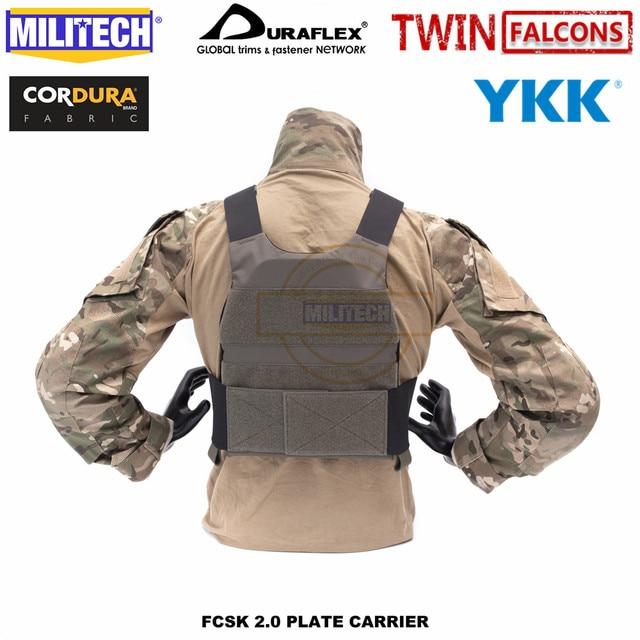 MILITECH FCSK 2.0 Advanced Slickster Plate Carrier Military Combat Tactical Vest Police Body Armor Carrier For 10x12/SAPI/ESAPI 6