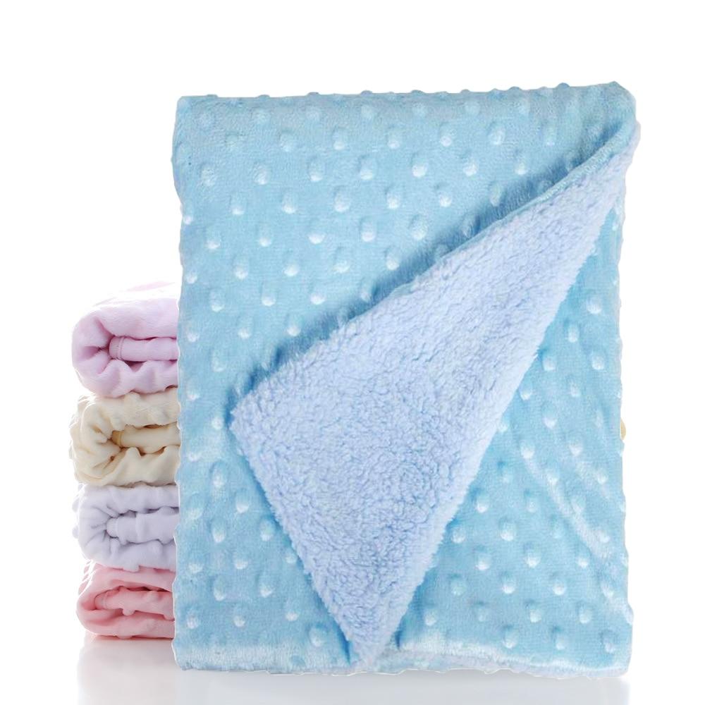 Baby Blanket Knitted Newborn Blankets Soft Stroller Sleep Cover Cartoon Beanie Infant Bedding Swaddle Wrap Kids Bath Towel
