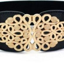 2017 Summer Lady fashion brief Vintage wide elastic waist belt waist buckle