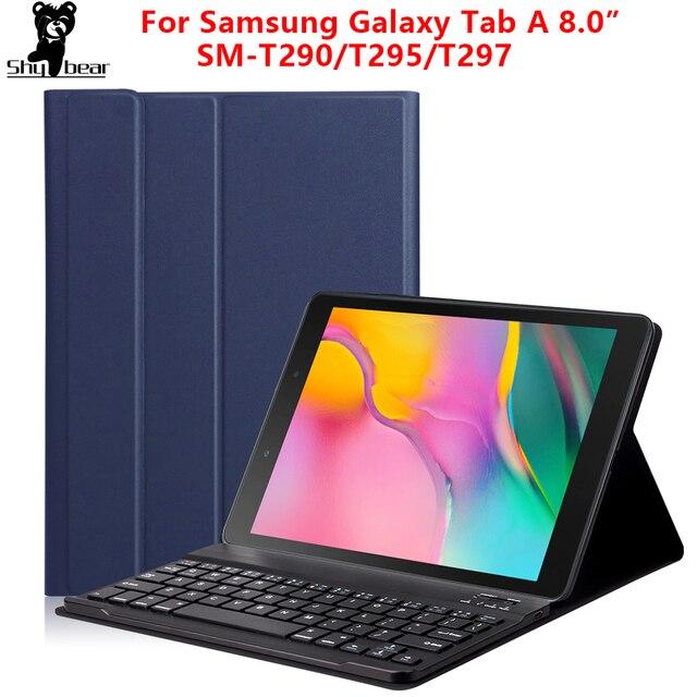 החייבת מקלדת Case עבור Samsung Galaxy Tab 8.0 2019 מקרה כיסוי עבור SM T290/T295 אלחוטי נשלף Bluetooth Tablet funda