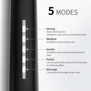 Image 5 - Seago Sonic Elektrische Tandenborstel Volwassen Usb Oplaadbare Verbeterde Ultra Sonic Tandenborstel Met Waterdichte Gezond Reizen Gift SG958
