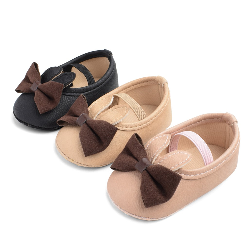 Baby Girl Shoes Toddler Infant Anti-slip Polka Cute Bow PU First Walkers Shoes Baby Footwear New Born Baby Shoes For Girl 0-2T
