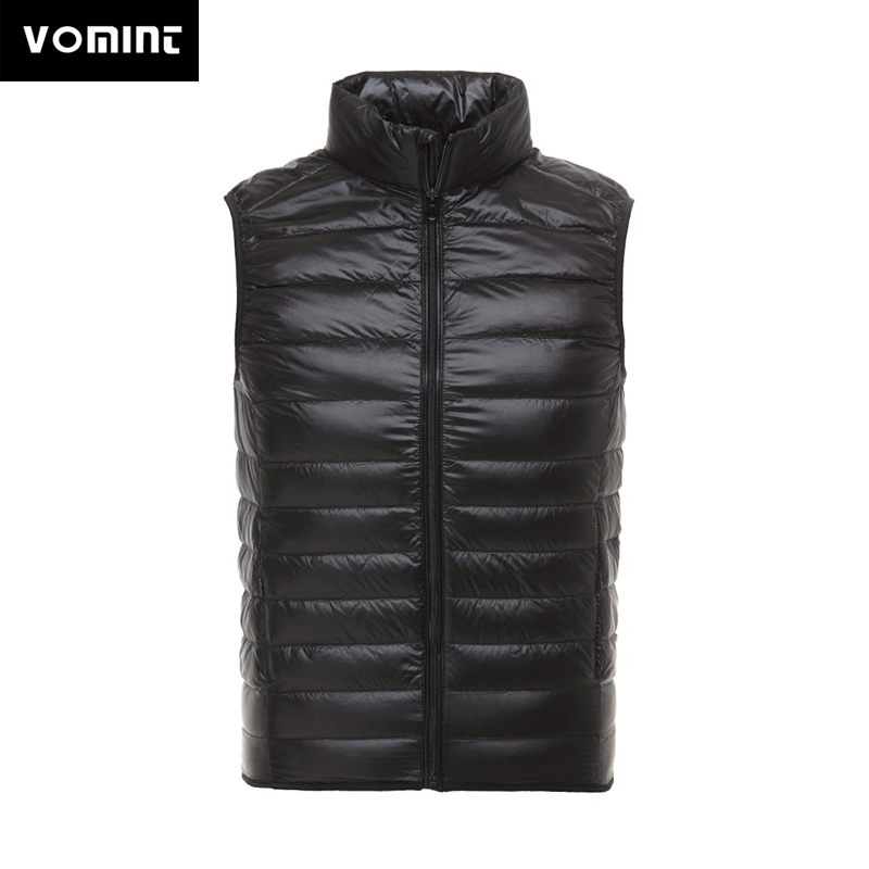 2019 Vomint New Mens Down Vest Coats Sleeveless Jackets 90% Duck Down Short Slim Down Vest Stand Neck Jacket For Male
