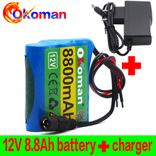 Battery-Pack Charger Lithium-Ion-Dc12.6v 3s1p 18650 8800mah Super 12V with BMS