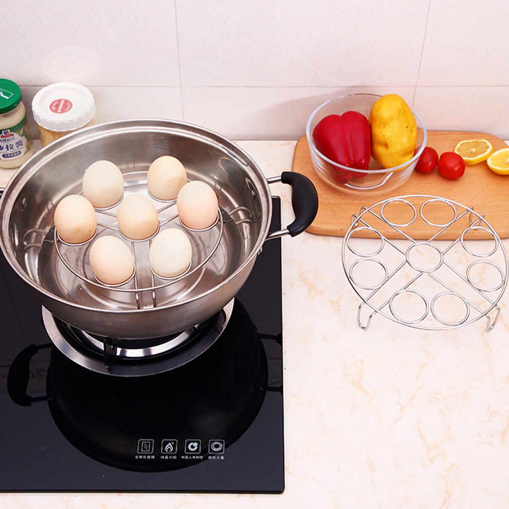 1 ثقوب الفولاذ المقاوم للصدأ البيض باخرة الرف ل قدر الضغط سلة المطبخ الفولاذ المقاوم للصدأ رف مطبخ الميكروويف باخرة البيض