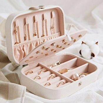2020 Universal Jewelry Organizer Display Travel Jewelry Case Boxes Portable Jewelry Box Button Leather Storage Zipper Jewelers