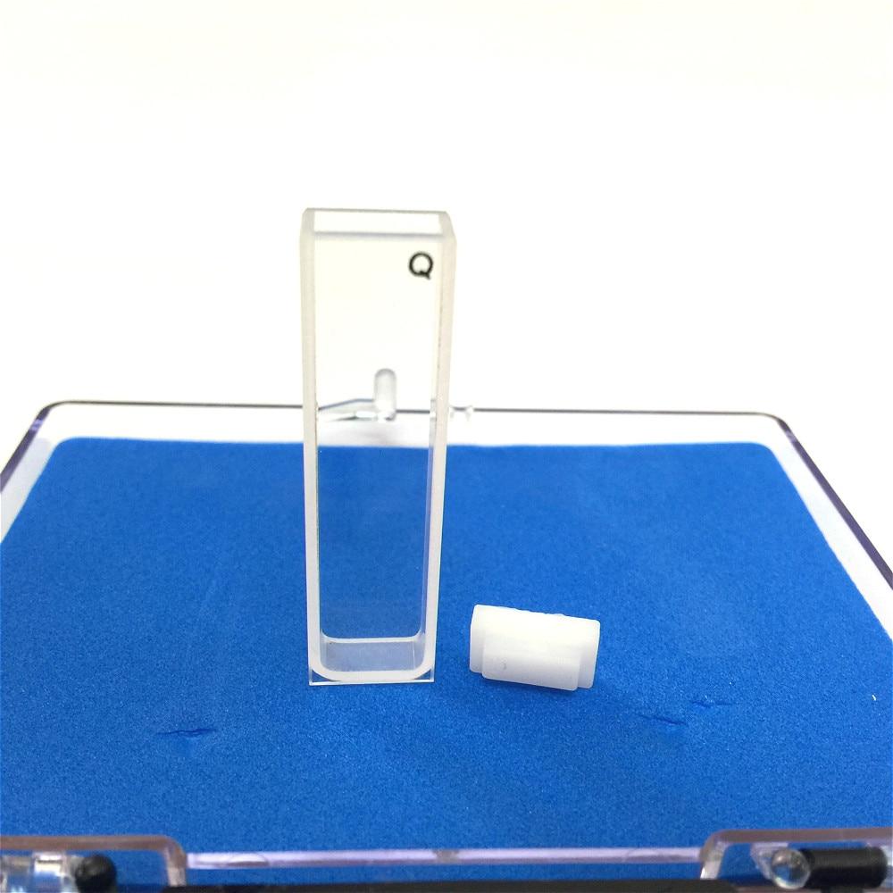 Quartz Cuvette Light Path 5 Mm Spectrometer Cell Quartz Absorption Cell 1.7ml Two-sides Transparent Resistant Acid & Alkali 2/PK