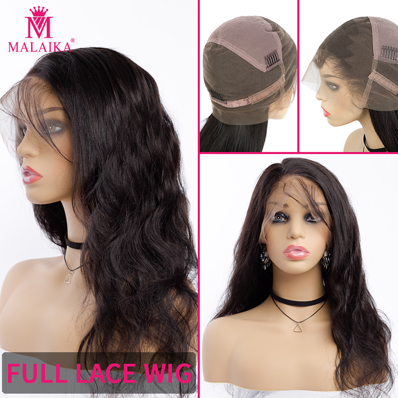 Full Lace Wigs Pre Plucked Natural Color Brazilian Body Wave Wigs For Women MALAIKA Hair 130% Density Lace Human Hair Wigs