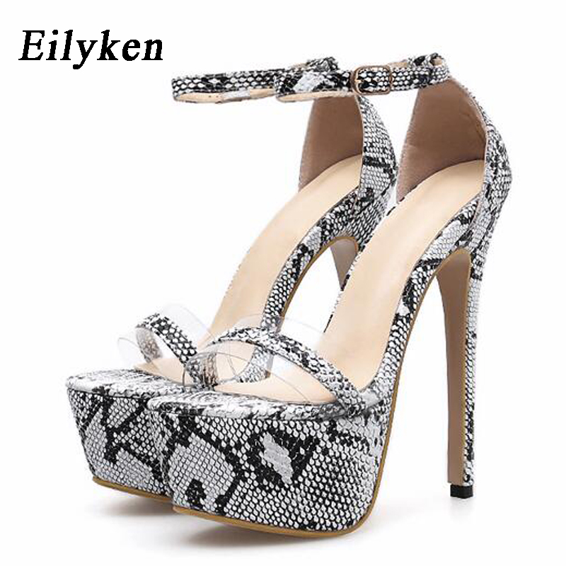 Eilyken  Summer zapatos Plus 35-42 Fashion Summer Women 16cm Ultra High Heel Platform Sandals Sexy Stripper Shoes Party Pumps