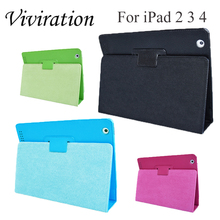 PU Leather Flip Cover Case For IPad 2 3 4 Stand Cases Smart Tablet A1395 A1396 A1416 A1430 A1458 A1460 Fold Smart Holder Shell tablet hard cover for apple ipad 2 3 4 ipad 4 3 magnetic stand pu leather cover gift smart smart fold flip shell skin protector