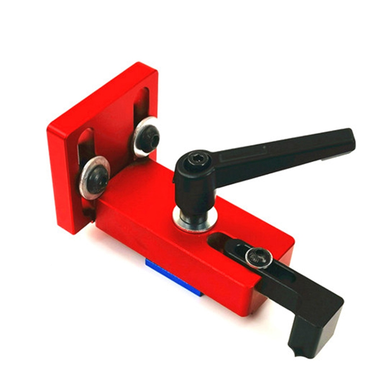 Woodworking T Slot Miter Track Stop Locator Sliding Brackets Woodworking Rail Retainer Chute Backing Connector For 45 T-Track