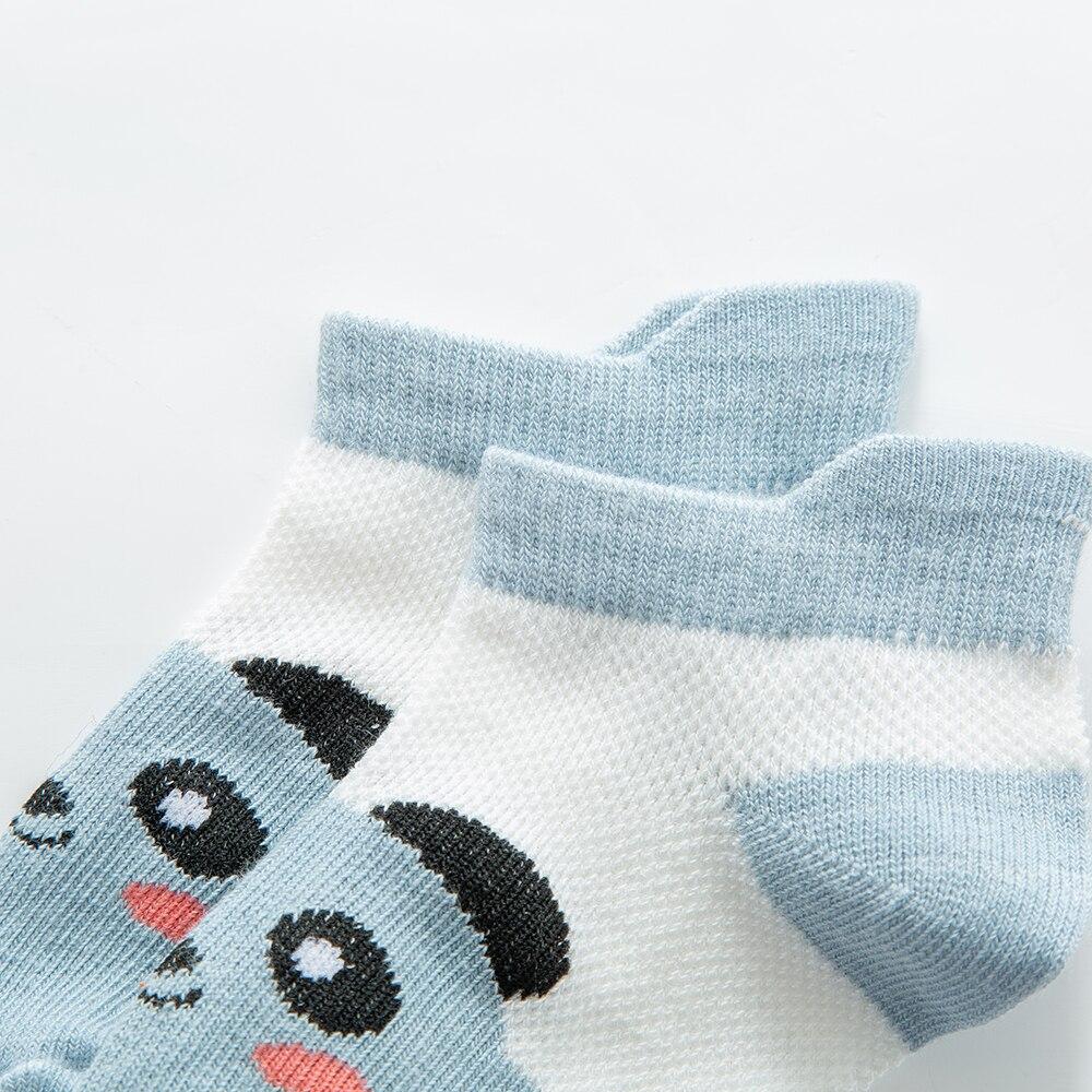 5Pairs/lot2-9Y Baby Socks Summer Cotton Animal Cartoon Kids Socks Girls Mesh Cute Newborn Boys Toddler Socks Baby 4