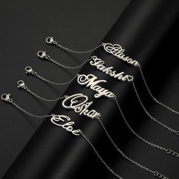 Skyrim Personalized Name Bracelet Women Girls Stainless Steel Chain Letter Customized Charm Bracelets Unique Custom Jewelry Gift 1