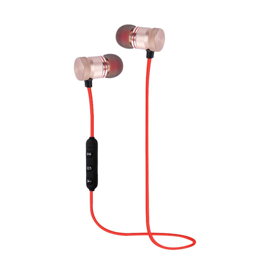 Bluetooth 4.1 מגנטי אלחוטי Bluetooth אוזניות סטריאו ספורט אוזניות עמיד למים אלחוטי באוזן אוזניות עם מיקרופון