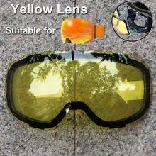 PHMAX-Gafas de esquí antiniebla, lentes de reemplazo de protección UV400, visión nocturna amarilla, únicamente gafas magnéticas y normales