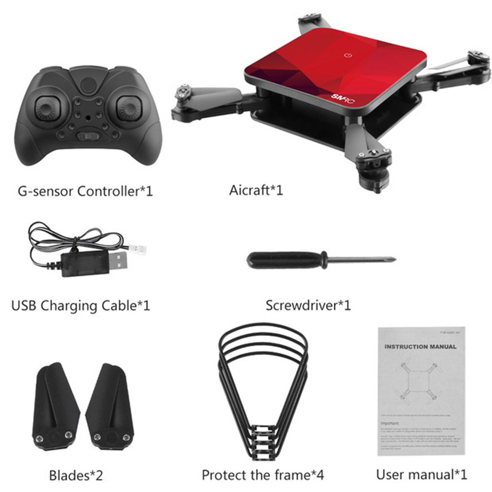 <font><b>SMRC</b></font> S1 mini rc drone with hd wifi camera pocket Selfie 2.0MP WiFi FPV Real Time Folding Helicopter for Chrismas <font><b>toy</b></font> boy gift ti image