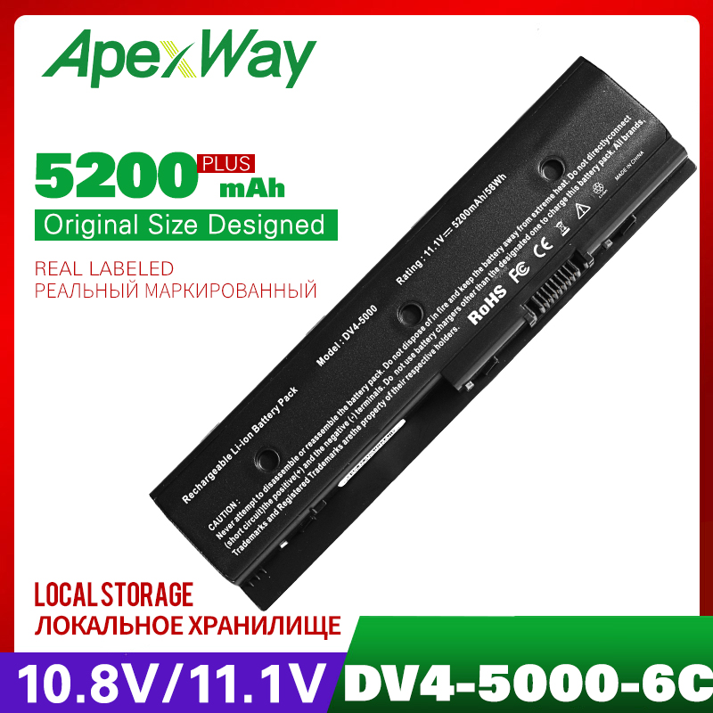 4400mah 11.1v bateria Do Portátil PARA HP Pavilion DV4-5000 M6 HSTNN-DB3P HSTNN-UB3N 671731-001 671567-831 HSTNN-YB3N 671731-001 MO06