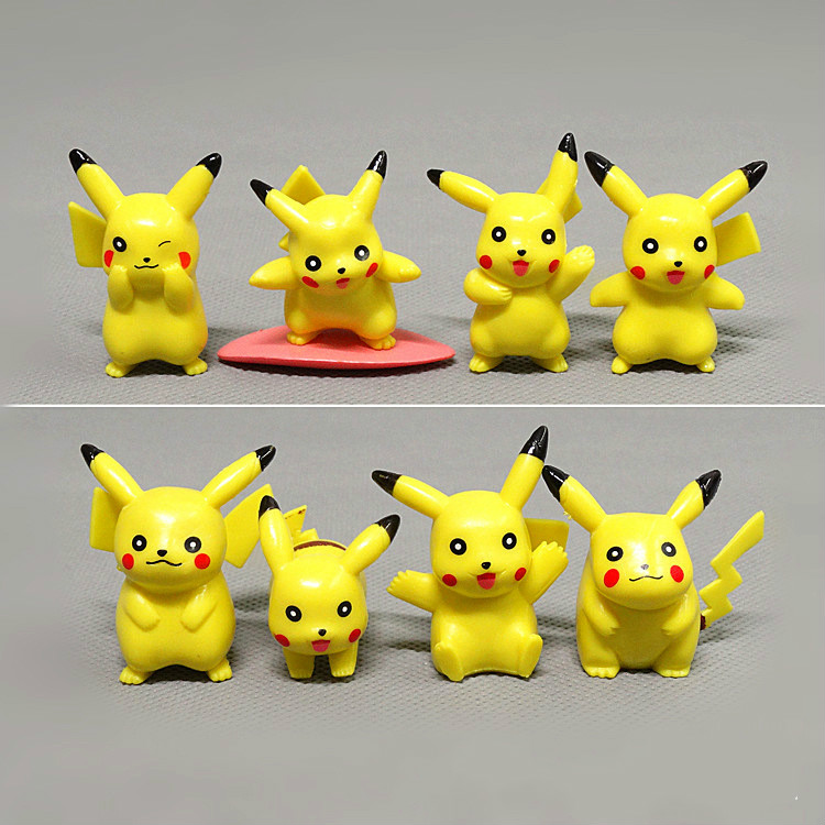 4-5cm 8pcs/set Pokemon Action Figures pikachu Anime Figure Model Toy Gift for Kids
