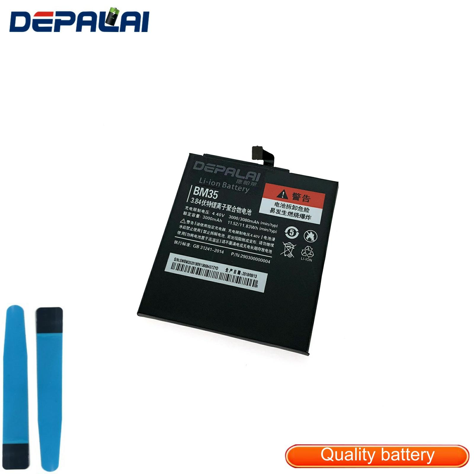 New Good Quality AAA For Xiaomi Mi 4C <font><b>BM</b></font> <font><b>35</b></font> 3080mAh Mobile Phone Replacement Polymer Batteries Real capacity image