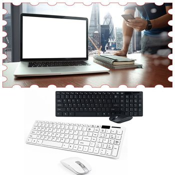 Wireless Keyboard And Mouse Mini Multimedia Keyboard Mouse Combo Set For Notebook Laptop Mac Desktop Office Supplies
