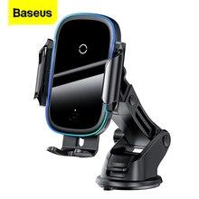 Baseus cargador inalámbrico Qi para coche, montaje de inducción, carga rápida, con soporte para teléfono de coche, para iPhone 11, Samsung, Xiaomi, 15W