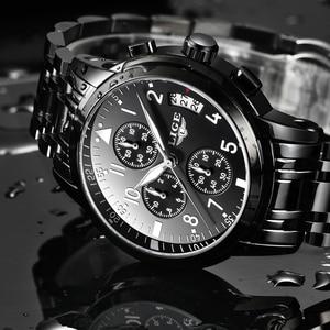 Image 4 - Mens นาฬิกาควอตซ์กันน้ำธุรกิจนาฬิกา LIGE แบรนด์หรูผู้ชาย Casual กีฬานาฬิกาชาย Relogio Masculino relojes hombre