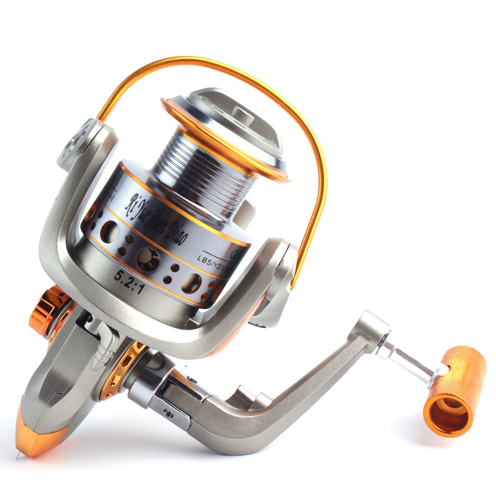 Full Aluminum Fishing Spin Reel 5.2:1 Super Strong Fishing Reel Ultra Smooth And Fade Free Fishing Spinner