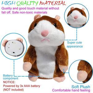 Image 2 - Neue Reden Hamster Maus Haustier Plüsch Spielzeug Heiße Nette Sprechen Reden Sound Record Hamster Pädagogisches Spielzeug für Kinder Geschenke 15 cm