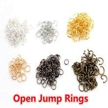 Кольца с открытой петлей, 200 шт./лот, 4, 5, 6, 7, 8 мм, открытые кольца для самостоятельного изготовления ювелирных изделий, колье, браслет, фурнитура, аксессуары