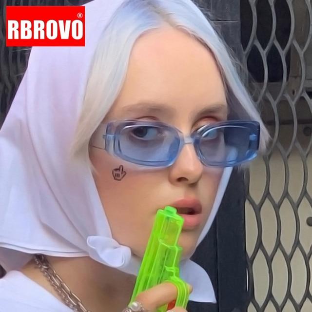 RBROVO Luxury Oversized Sunglasses Women Retro Sun Glasses Women Brand Designer Glasses For Women Mirror Oculos De Sol Feminino 1