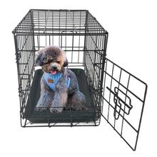 20 Inch Pet Kennel Cat Dog Folding Steel Crate Animal Playpen Wire Metal Cage Black for Home Small Pet Dog Cat