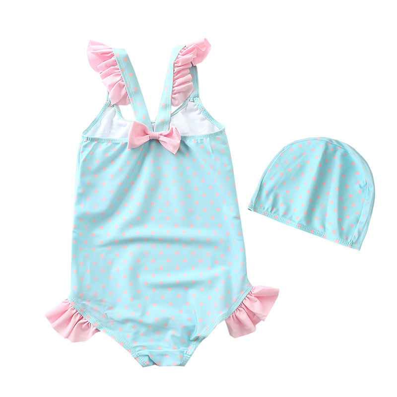 Europe And America New Style Bathing Suit Sweet Cute Children Small CHILDREN'S GIRL'S One-piece Swimsuit Mermaid Princess Tour B