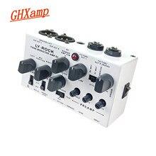 Pedal de guitarra gabinete analógico di box (8-em-1 0-watt estéreo guitarra alto-falante) pré-amplificador tom mixer microfone praticando diy