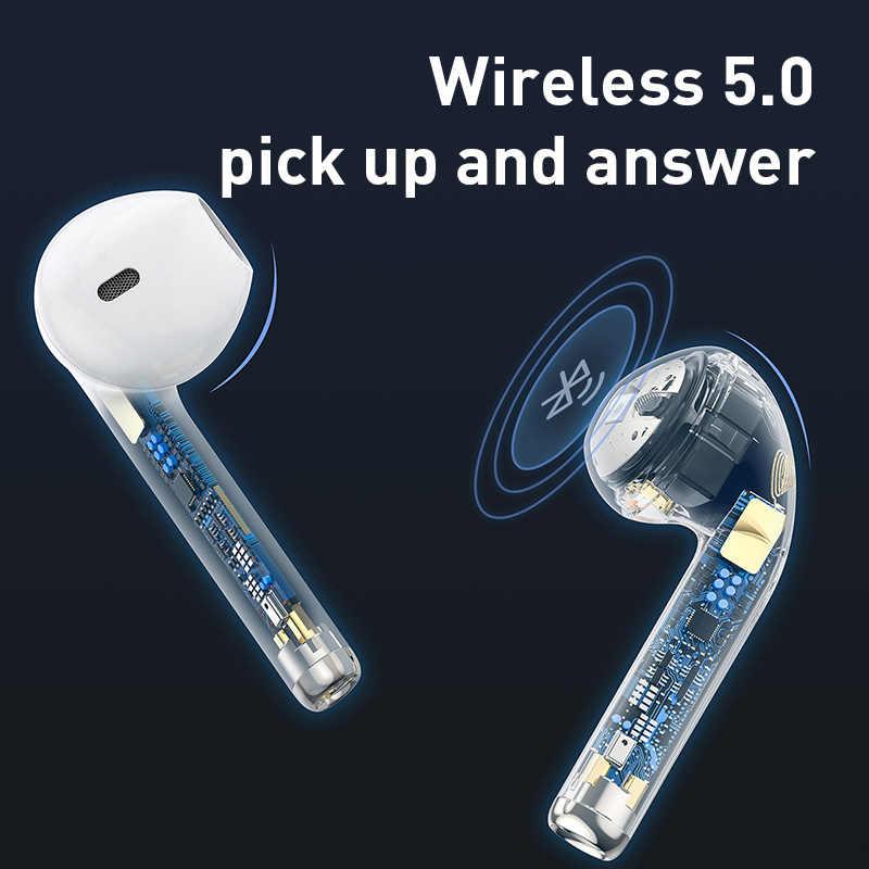 Baseus W04 スポーツ tws ワイヤレスヘッドフォン bluetooth イヤホン 5.0 のための耳のヘッドセットでハンズフリーミニ真のワイヤレス電話