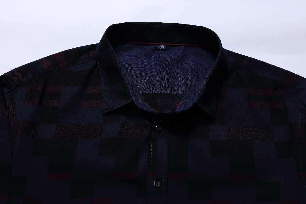 Plus size 8xl 6xl 5xl oxford camisa casual manga longa solto ajuste confortável camisa de impressão dos homens camisas de vestido de alta qualidade