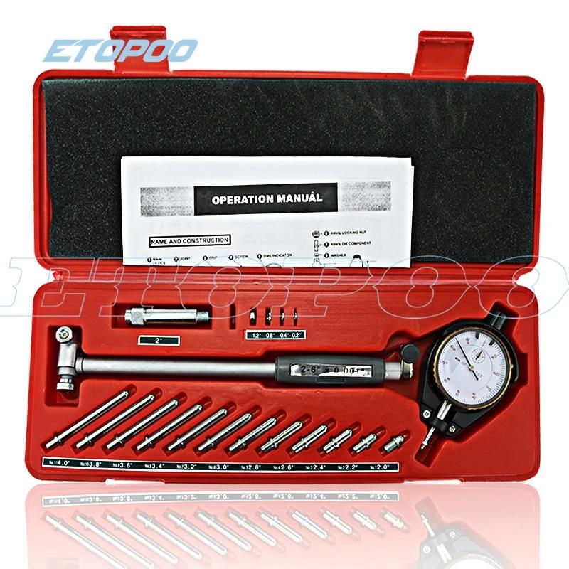 Dial Bore Gauge Gage Indicator Engine Cylinder 50-160mm 0.01mm