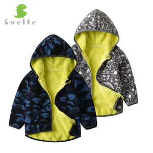 Image 4 - SVELTE for 2 7 Yrs Kid and Toddler Boy Lining Fur Fleece Hoodies Jackets Fluffy Sweatshirts Boy Clothes Printed Coats for Winter