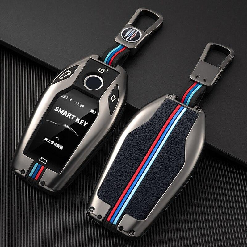 Подходит для BMW ЖК дисплей ключ крышка сенсорный экран 7 серия 730Li 740 Новый X5 X6 X7 535Le GT 630 дистанционный пульт защитный чехол сумка|Футляр для автомобильного ключа|   | АлиЭкспресс