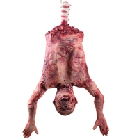 Halloween Decoration Scary Room Red Broken Hanging Zombie Horror Mummified Corpse Bloody Haunted House Bar Prop