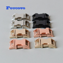 20pcs/lot 15mm strong plated metal belt buckle quick release clip hook DIY dog collar bags backpack sewing accessories