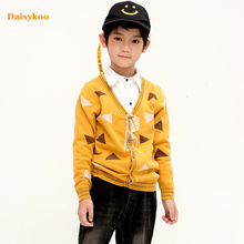 2019 Autumn Winter Kids Boys Sweater Knitted Cotton Toddler Clothing Pullover For 2-7 Years Outerwear Coat