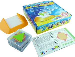 Image 5 - 100 ChallengeรหัสสีปริศนาเกมTangramกระดานจิ๊กซอว์ปริศนาของเล่นเด็กเด็กพัฒนาLogic Spatial Reasoningทักษะของเล่น
