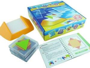 Image 5 - 100 desafio código de cor quebra cabeça jogos tangram quebra cabeça placa brinquedo crianças desenvolver lógica espacial raciocínio habilidades brinquedo