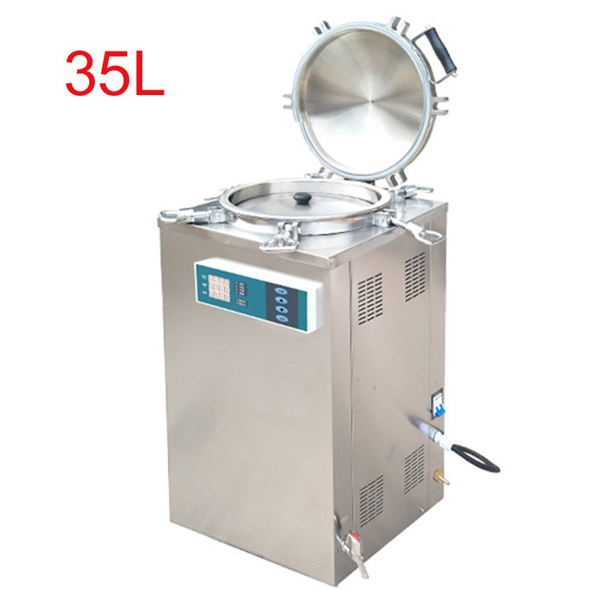 35L 2.5KW Stainless Steel Sterilization Pressure Steam Sterilizer Automatic Disinfecting Cabinet For Surgical Medical LS-35LD