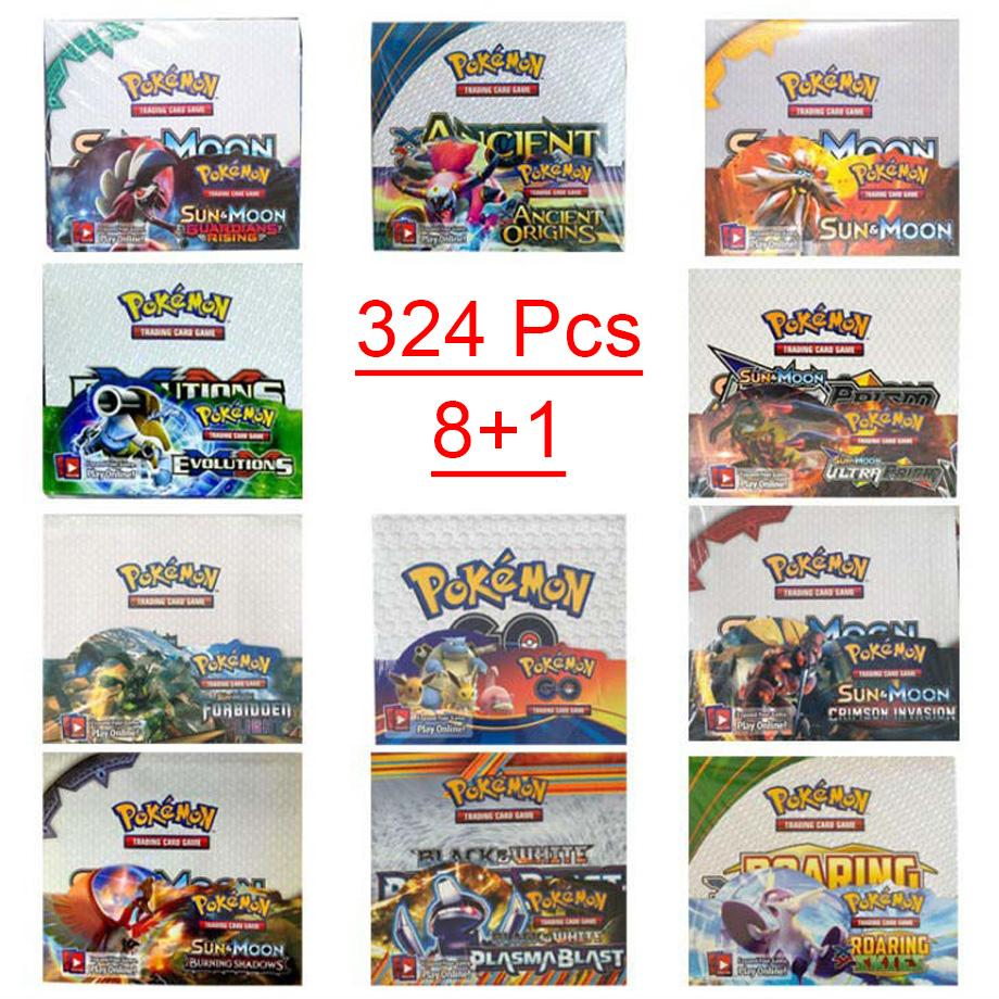 324Pcs/box Pokemon Card TCG Sun & Moon Ultra Prism 36 Pack Booster Box Collecting Trading Cards Game