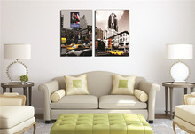 United States New York City Street View Yellow Taxi Canvas Painting Bedroom Wallpaper Art Prints City Modern Street View wallpaper wallpaper city guide mexico city 2012