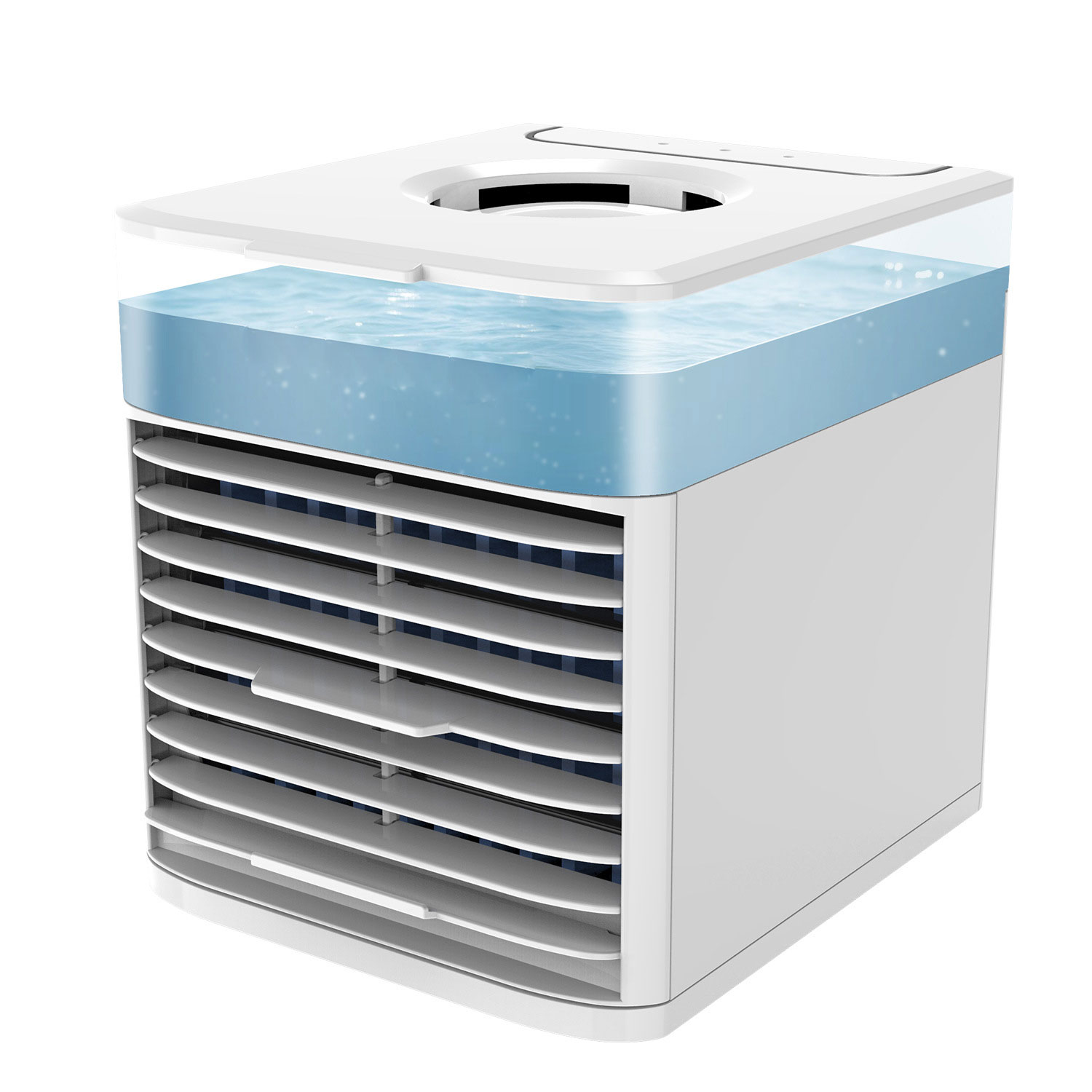 Portable Air Conditioner With UV Germicidal Lamp USB Air Cooler Fan Multi Function Humidifier Purifier Mini Air Conditioning