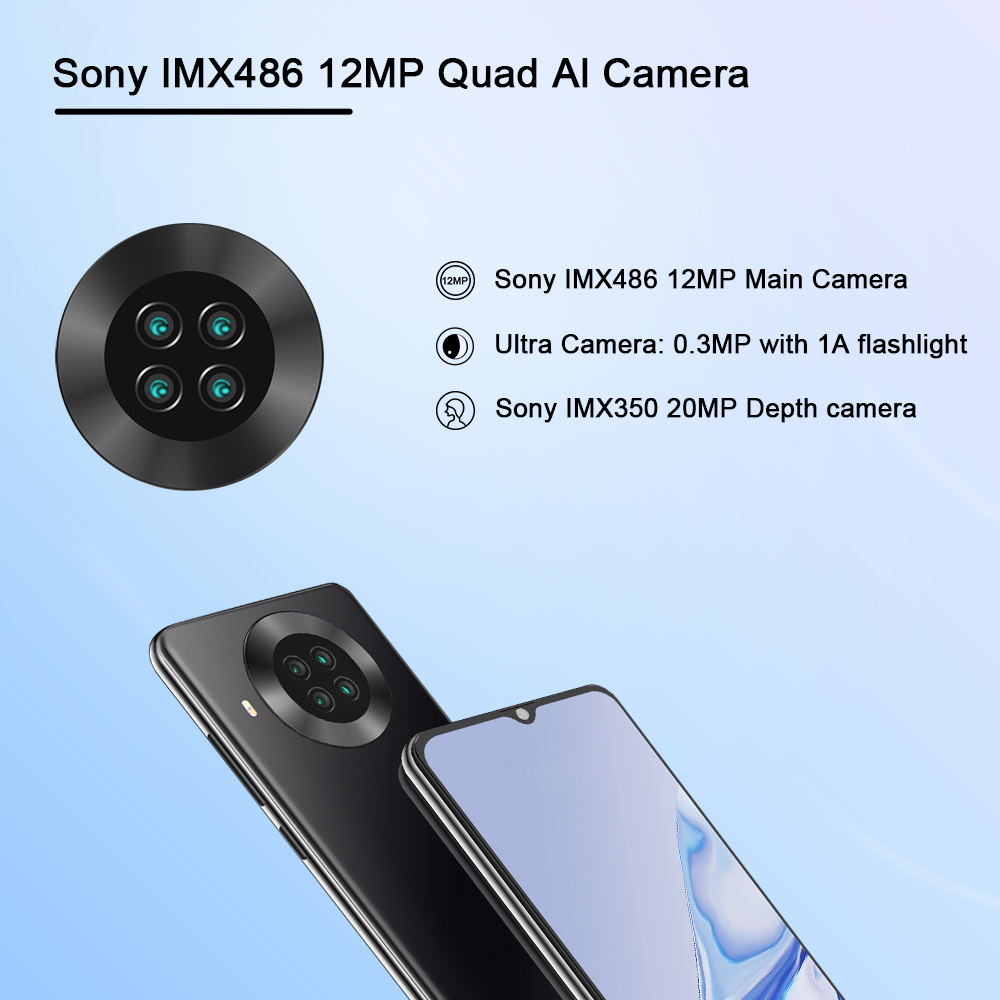 "Cubot Note 20 Pro Quad Camera Smartphone NFC 6GB/8GB+128GB 6.5"" 4200mAh Android 10 Dual SIM Telephone 4G LTE celular Note20 Pro 3"