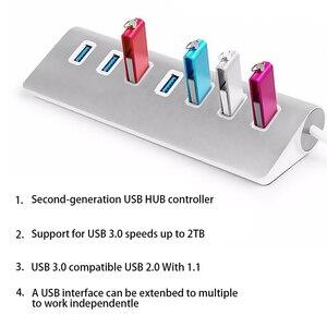 Image 2 - Usb 3.0 Cable Usb Hub 3.0 Usb Splitter 7 Port Usb Splitter Adapter USB3.0 Extension Cable For Macbook Pc Laptop Hard Drives